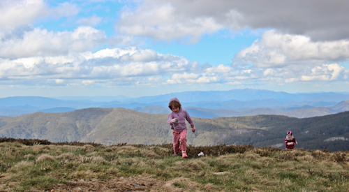 Playing on Mt Buller, Victoria, November 2013
