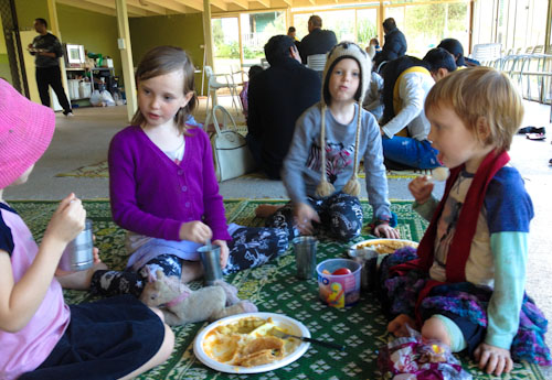 Feast at New Gokula Hare Krishna Farm, Millfield, NSW, June 2014