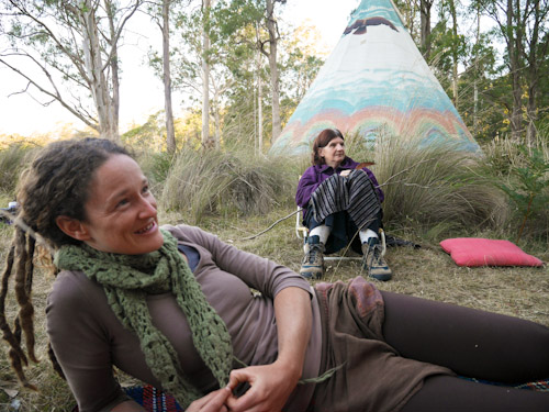 Nicole and Yvonne, Tasmanian Rainbow Gathering, January 2014