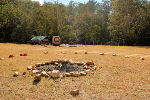 Stones from a sacred fire from the Tenterfield Rainbow Gathering, July 2014