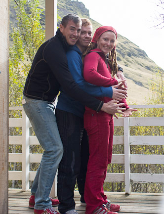 Ben, Ágúst and Lauren, September 2013