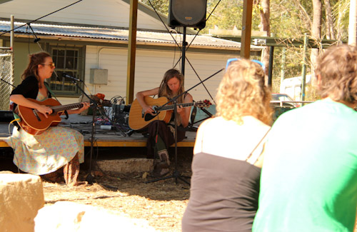 Music at Nimbin Markets, 4th and 5th Sundays, Nimbin, northern NSW, July 2014