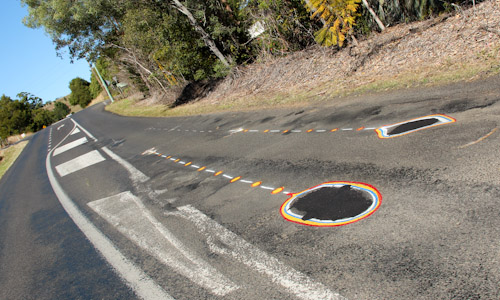 Roadart, Lismore-Nimbin Road, northern NSW, July 2014