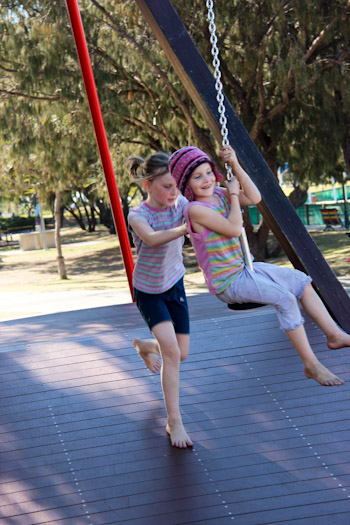 Washington Waters Children's Playground, Broadwater Parklands, Southport, Gold Coast, August 2014