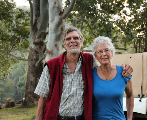Hugh and Nanette Nicholson, The Channon Village Campground, The Channon, northern NSW, August 2014
