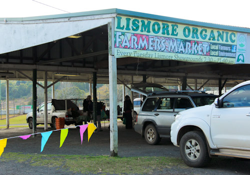 Lismore Organic Farmers Market, Lismore, northern NSW, August 2014