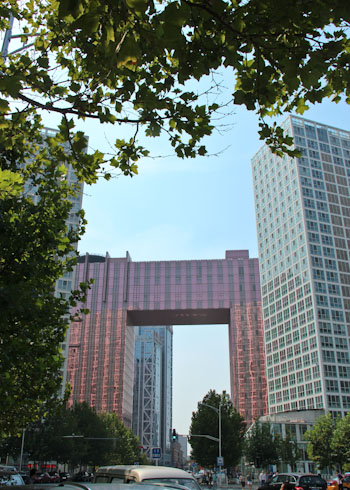 Fairmont Beijing hotel, as seen from SOHO, Chaouang District, August 2014