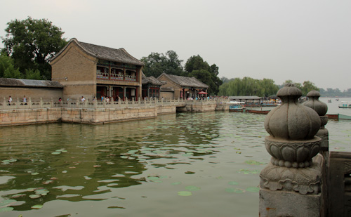 Kumming Lake, Summer Palace Imperial Gardens, Beijing, China, August 2014