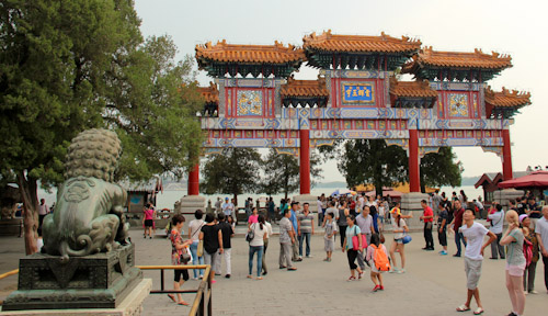 Yunhui Yuyu Archway, Summer Palace Imperial Gardens, Beijing, China, August 2014