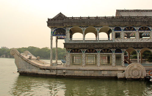 Marble boat, Summer Palace Imperial Gardens, Beijing, China, August 2014