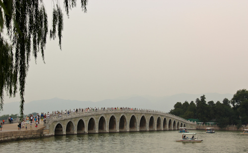 Seventeen-Arch Bridge, Summer Palace Imperial Gardens, Beijing, China, August 2014