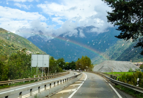 Rainbow in the alps, Switzerland, September 2014