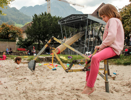 Playground at Glasi Hergiswil, Switzerland, September 2014