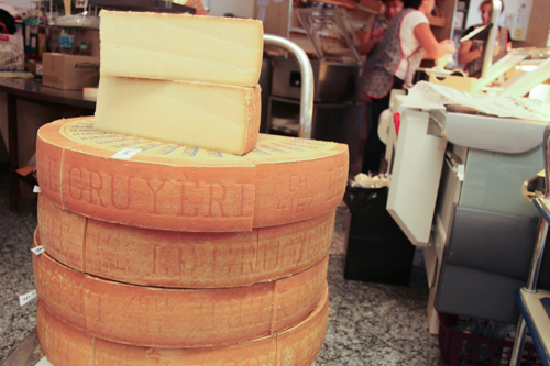 Cheese for sale at La Maison du Gruy�re, Switzerland, September 2014