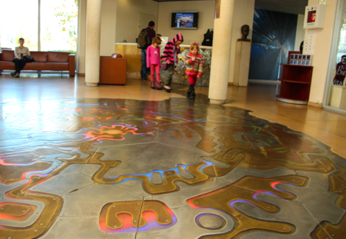 Cosmic Song, in-floor sculpture by Serge Moro, CERN, Geneva, Switzerland, September 2014
