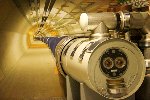 Photo of the Large Hadron Collider, at the Microcosm exhibition, CERN, Geneva, Switzerland, September 2014