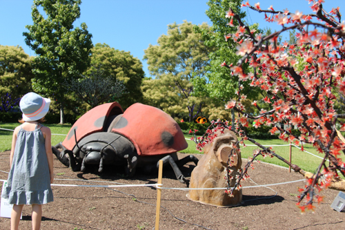 Animiatronic bug, Hunter Valley Gardens, NSW, January 2015