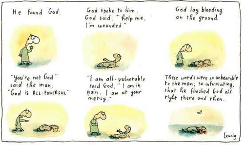 Michael Leunig cartoon about vulnerability