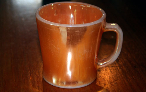 Iridescent brown mug