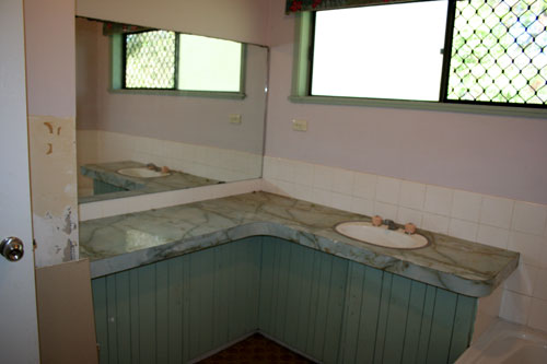 Bathroom renovation, April 2009
