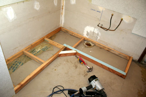 Bathroom renovations, April 2009