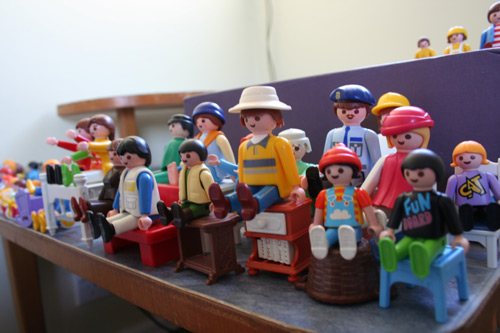 Playmobil people, August 2009