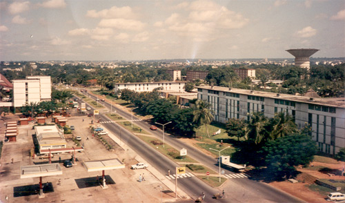 Cocody neighbourhood, Abidjan, circa 1990