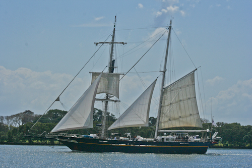 Sailing ship on the Brisbane River, September 2010