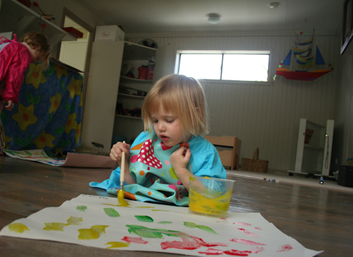 Calista painting, September 2010