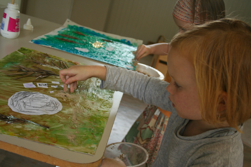 Painting with Manou, September 2010