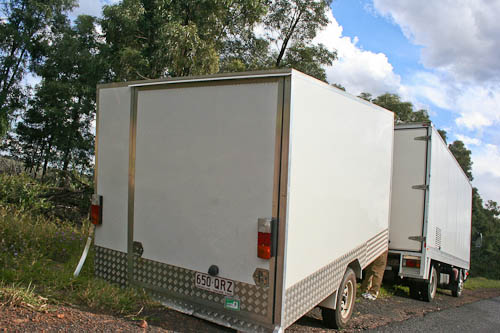 Our broken trailer, November 2010