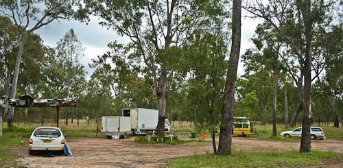 Camping outside Carnarvon, November 2010