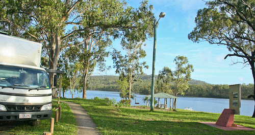 Camping at No. 7 dam, Mount Morgan, November 2010