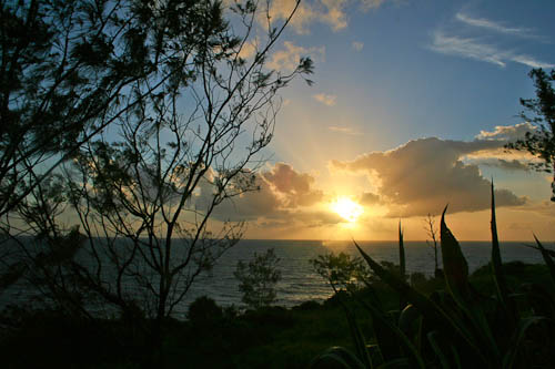 Sunrise over the Pacific, November 2010
