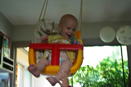 Delaney in the swing, December 2010