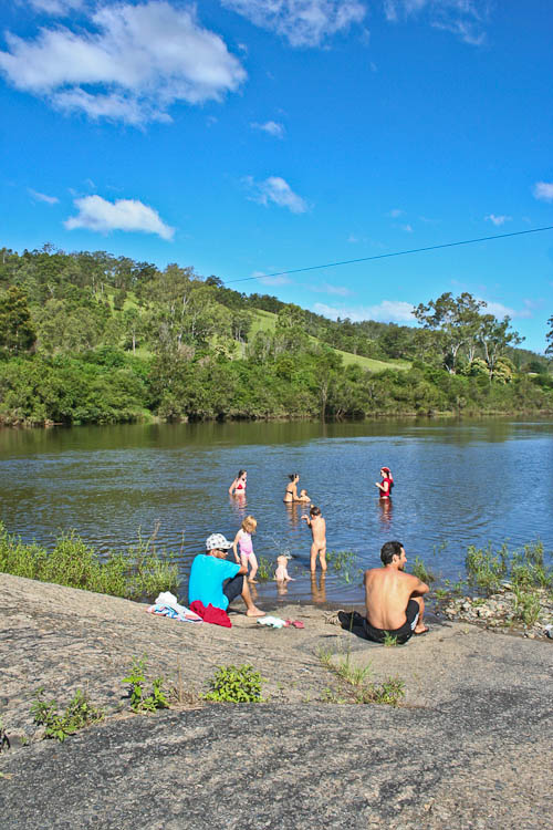 Playing in the Nymboida River, December 2010