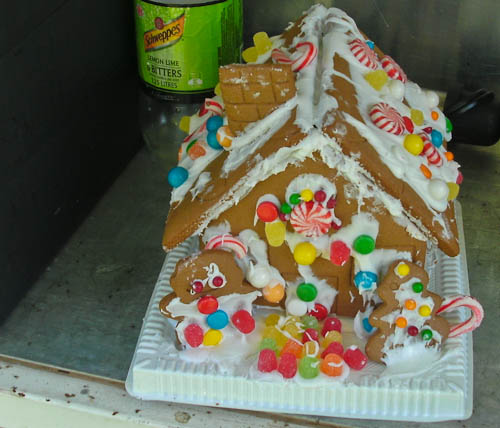 Gingerbread house, December 2010