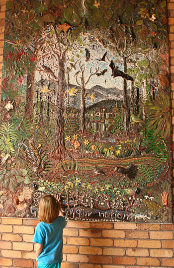 Mosaic at Dorrigo Rainforest Centre, January 2011
