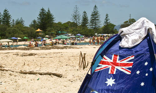 Australia Day on the beach, January 2011