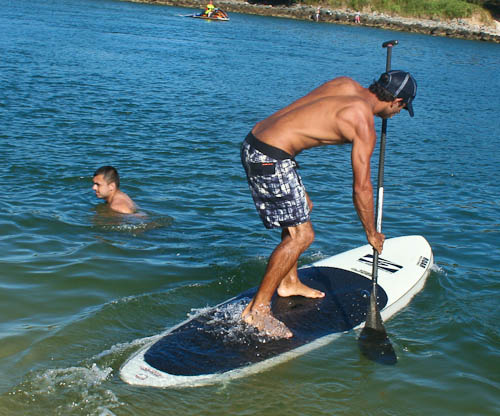 Paddleboarding, Australia Day, January 2011