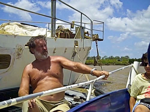 Graham sitting in his boat