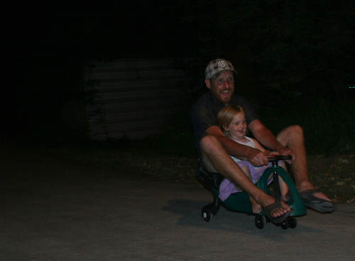David and Calista on the gyrocars, January 2011