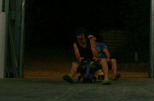 Jayke and Anthony on gyrocars, January 2011