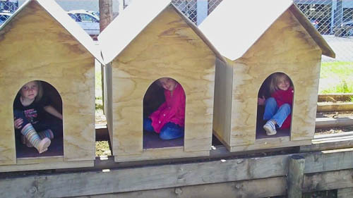 Girls in doghouses, March 2011
