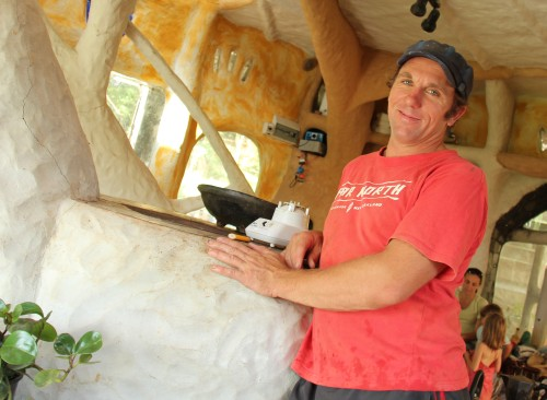 Clinton Scott, builder of the Pineapple House, April 2011