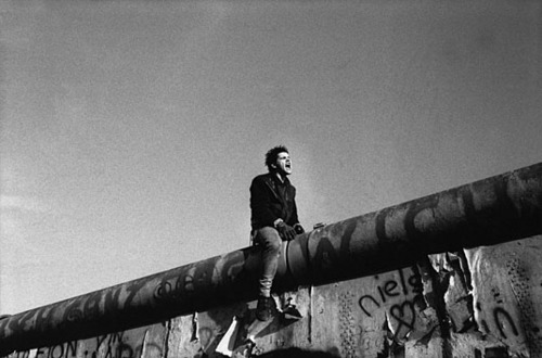 Sitting on the Berlin Wall (1989)