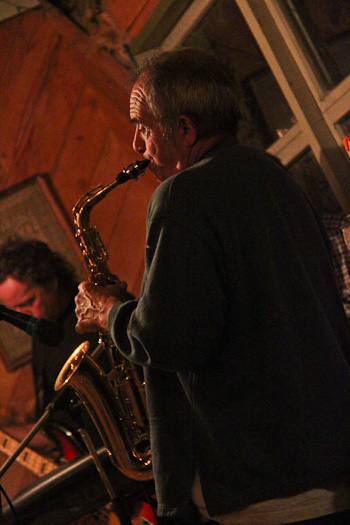 Tony on saxophone, May 2011