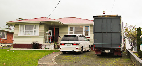 Parked outside the Langs' in Dargaville, June 2011