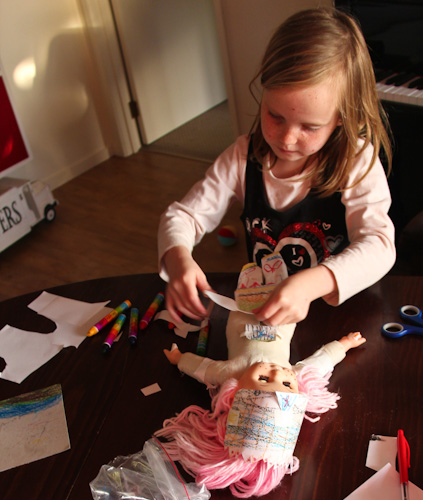 Paper clothes for the doll, August 2011