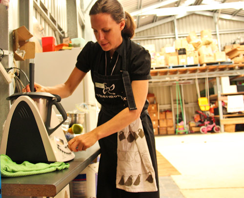 Sonya demostrating the Thermomix, September 2011